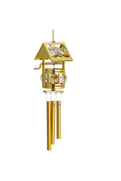 24K GOLD PLATED WIND CHIM  WISH MAKING WELL