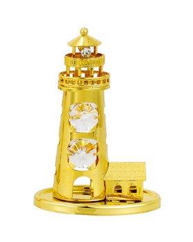 24K GOLD PLATED LIGHT HOUSE