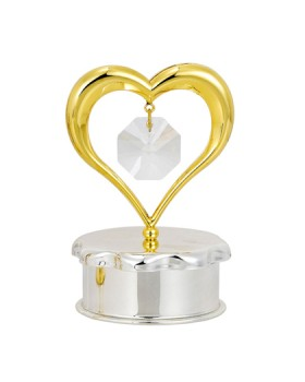 24K GOLD PLATED GOLD HEART TRINKET BOX