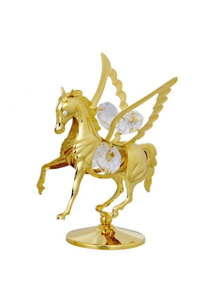 24K GOLD PLATED FLY HORSE