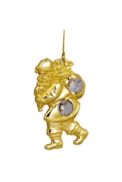 24K GOLD PLATED SANTA CLAUSE HANGING
