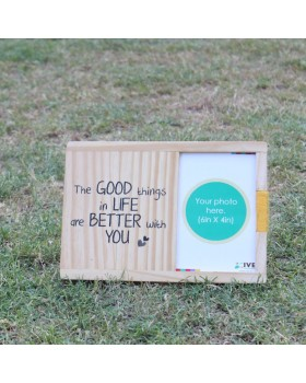 IVEI Wooden table and wall photo frame - Good things