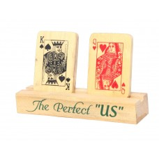 IVEI Poker themed King and Queen wooden showpiece