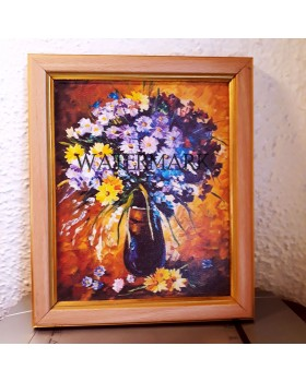 "Flower Vase  ( Without  Frame ) : (14"" X 20"")"