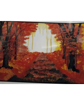 "AUTUMN MISTY SUNRISE (CANVAS) WITH FRAME (TIGAR)-11""X15"""