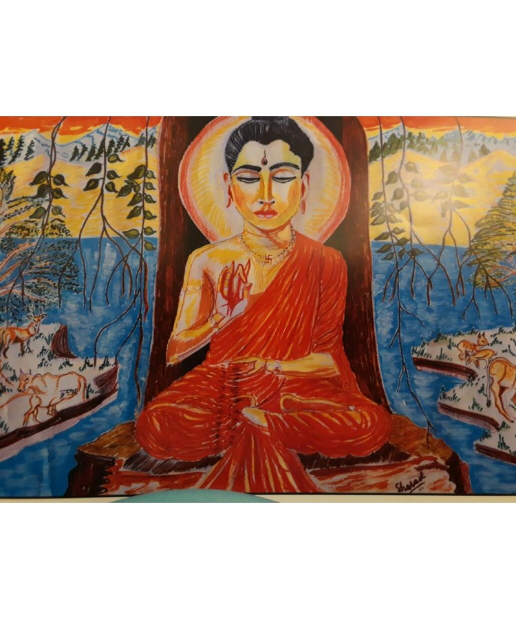 Buddha In Forest Canvas With Frame 11 X 15 The Global Artisans