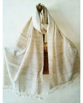Wool and fine tussar stole.