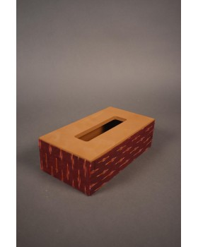 Tissue Box with Ikat fabric
