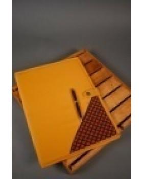 Orange booty print folder