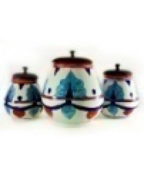 Big blue pottery jar