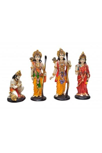 Lord Ram Darbar Idol | God Hanuman Darbar | Handicraft Statue | Spiritual Pooja | Vastu Showpiece